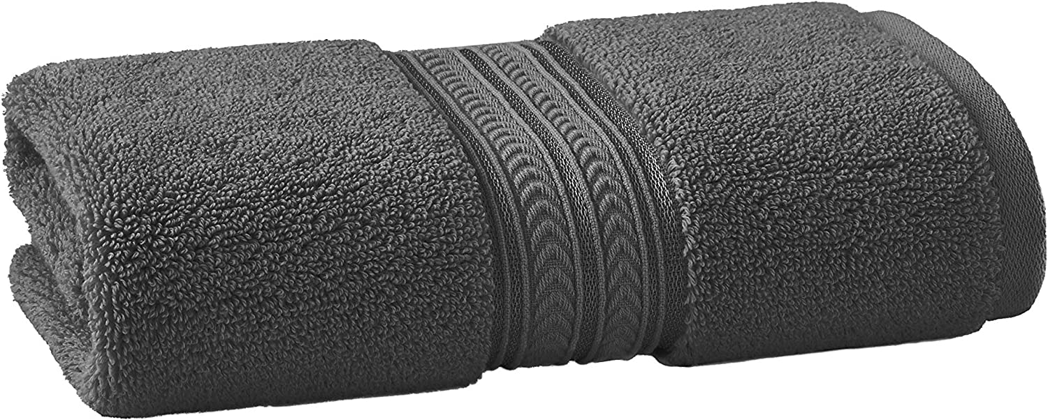 Better Homes & Gardens BHG Thick and Plush Solid Super Soft Cotton, Washcloth, Grey Shadow