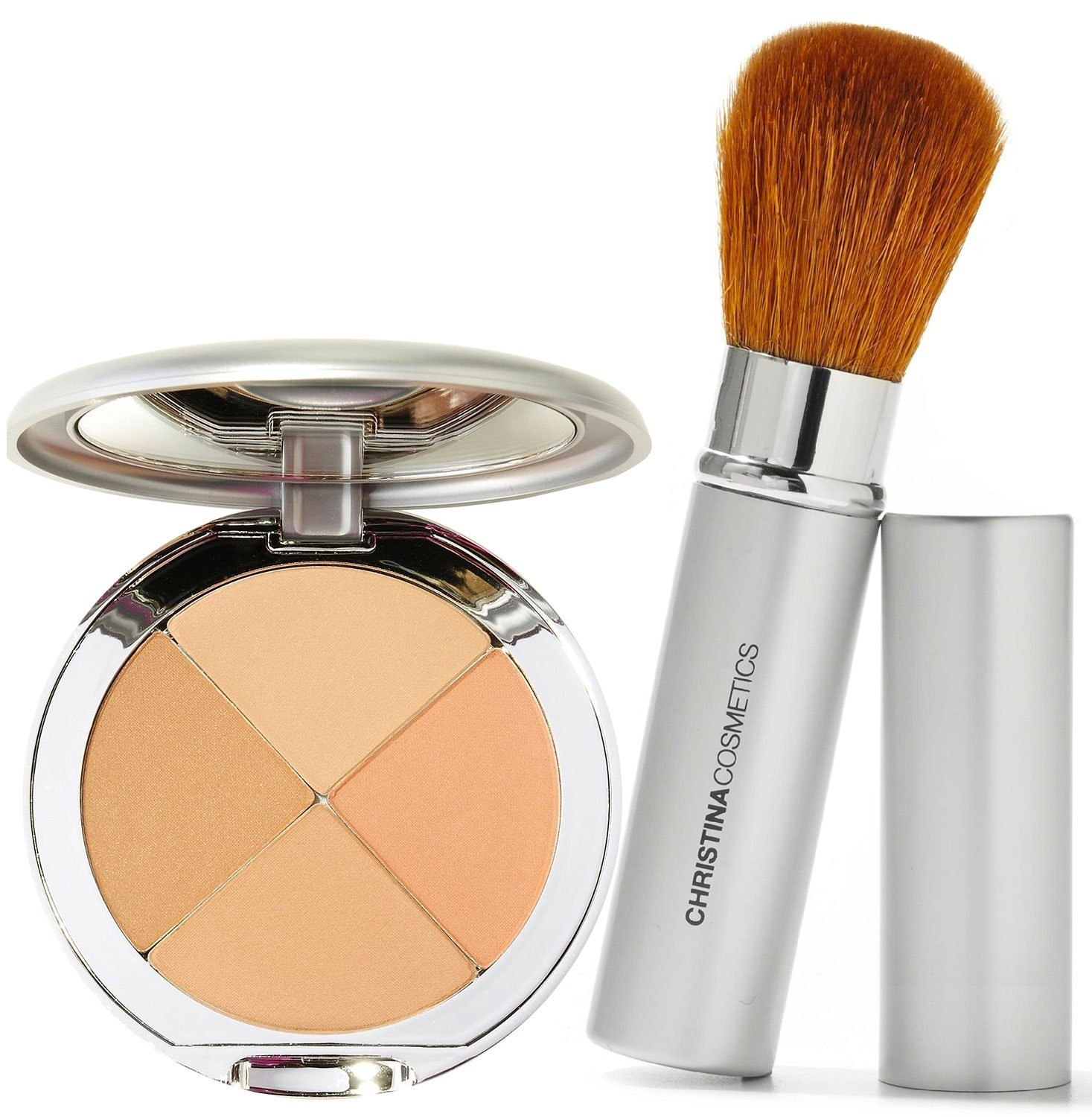 Christina Cosmetics Perfect Pigment 2 Compact and Retractable Brush Duo! by Christina Cosmetics