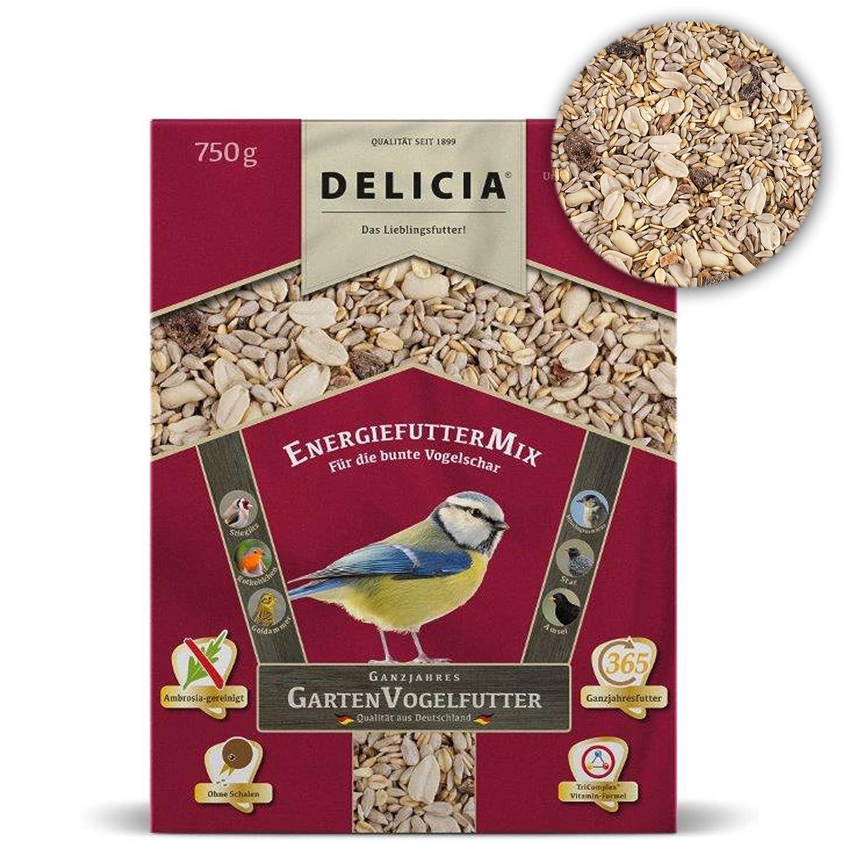 Delicia Doublure Doublure énergie Mix d'Hiver pour oiseaux sauvages, 750g