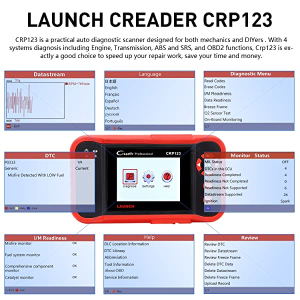 Launch CRP123 is the world's superior car scanner which offers full of OBD2 functions.