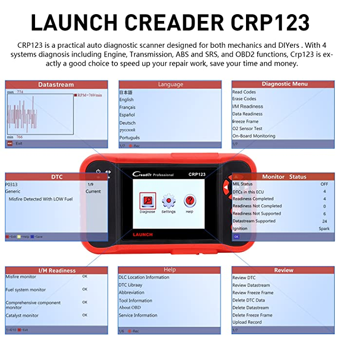 Launch Creader CRP123 is one of the best OBD2 scanners