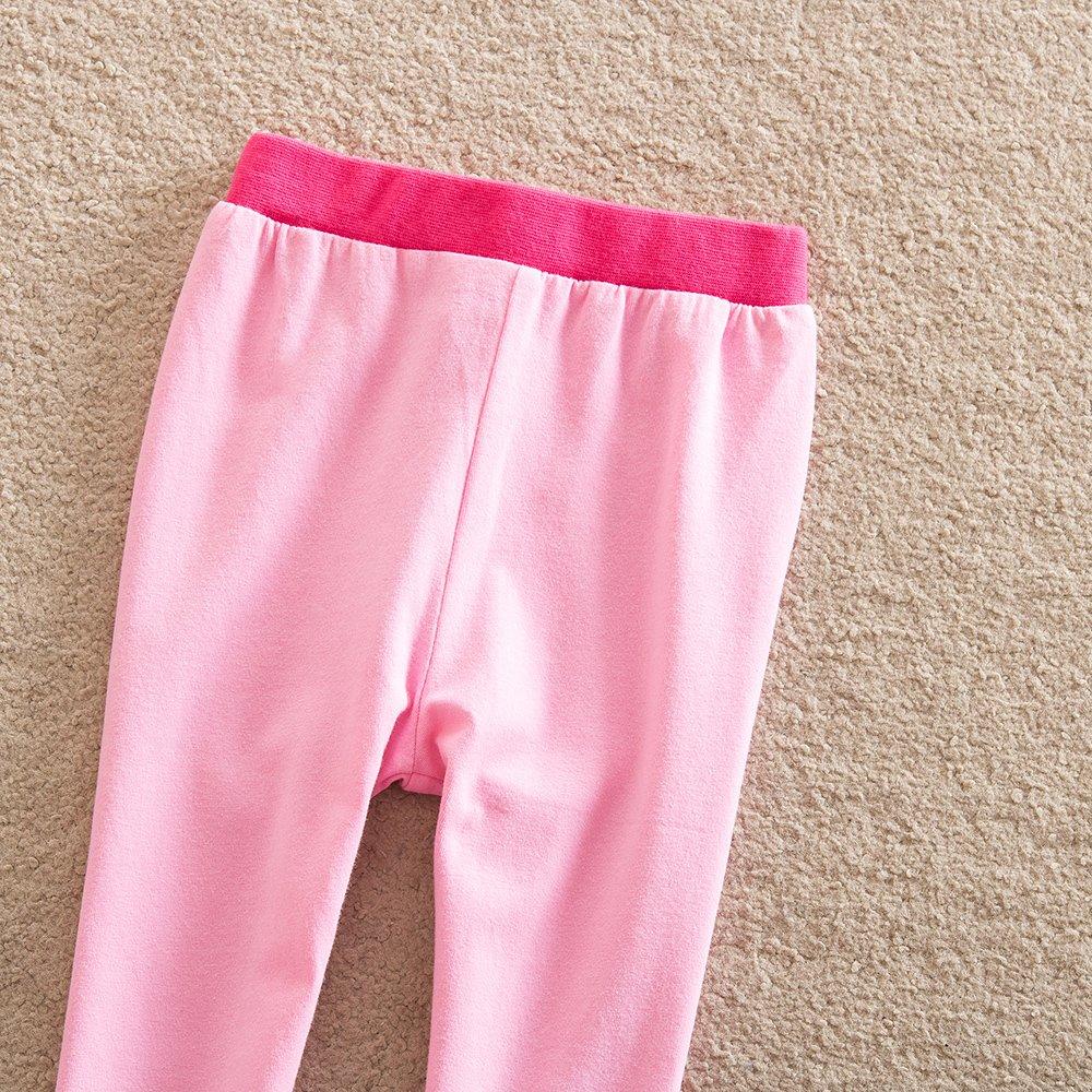 VIKITA Leggings Cotone Pantaloni Farfalla Ricamo Bambina 1-8 Anni