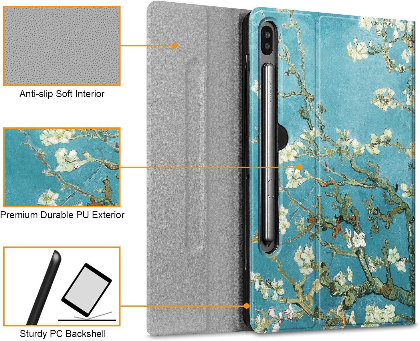 Schwarz Fintie Tastatur H/ülle f/ür Samsung Galaxy Tab S6 10.5 SM-T860//T865 2019 magnetisch Abnehmbarer drahtloser Deutscher Bluetooth Tastatur Hintergrundbeleuchtung in 7 Farben Schutzh/ülle mit