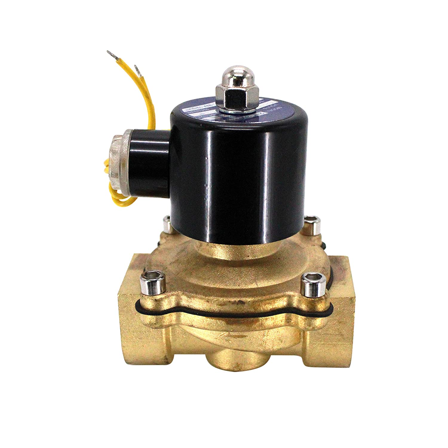 BONATE 110V AC 1 NPT Electric Solenoid Valve Water Air Gas Fuels N//C-1 NPT Available