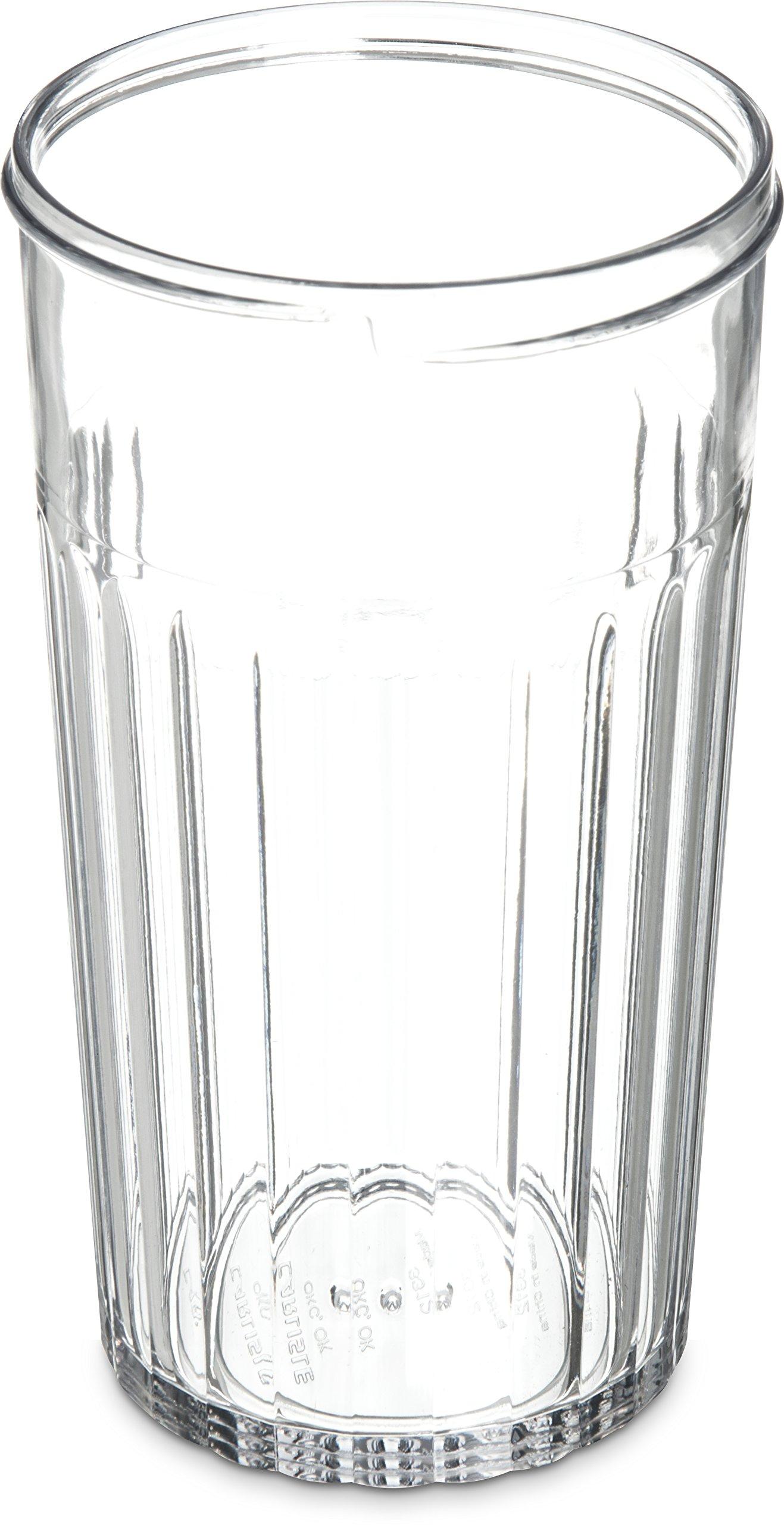 Carlisle 331207 SAN Base Sugar Pour/Cheese Shaker, 12-oz. Capacity, Clear (Case of 72) by Carlisle