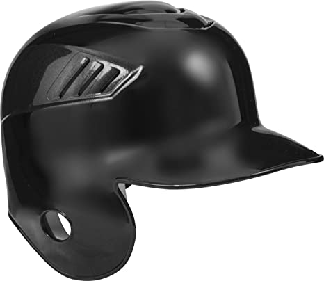 Red single flap batting helmet