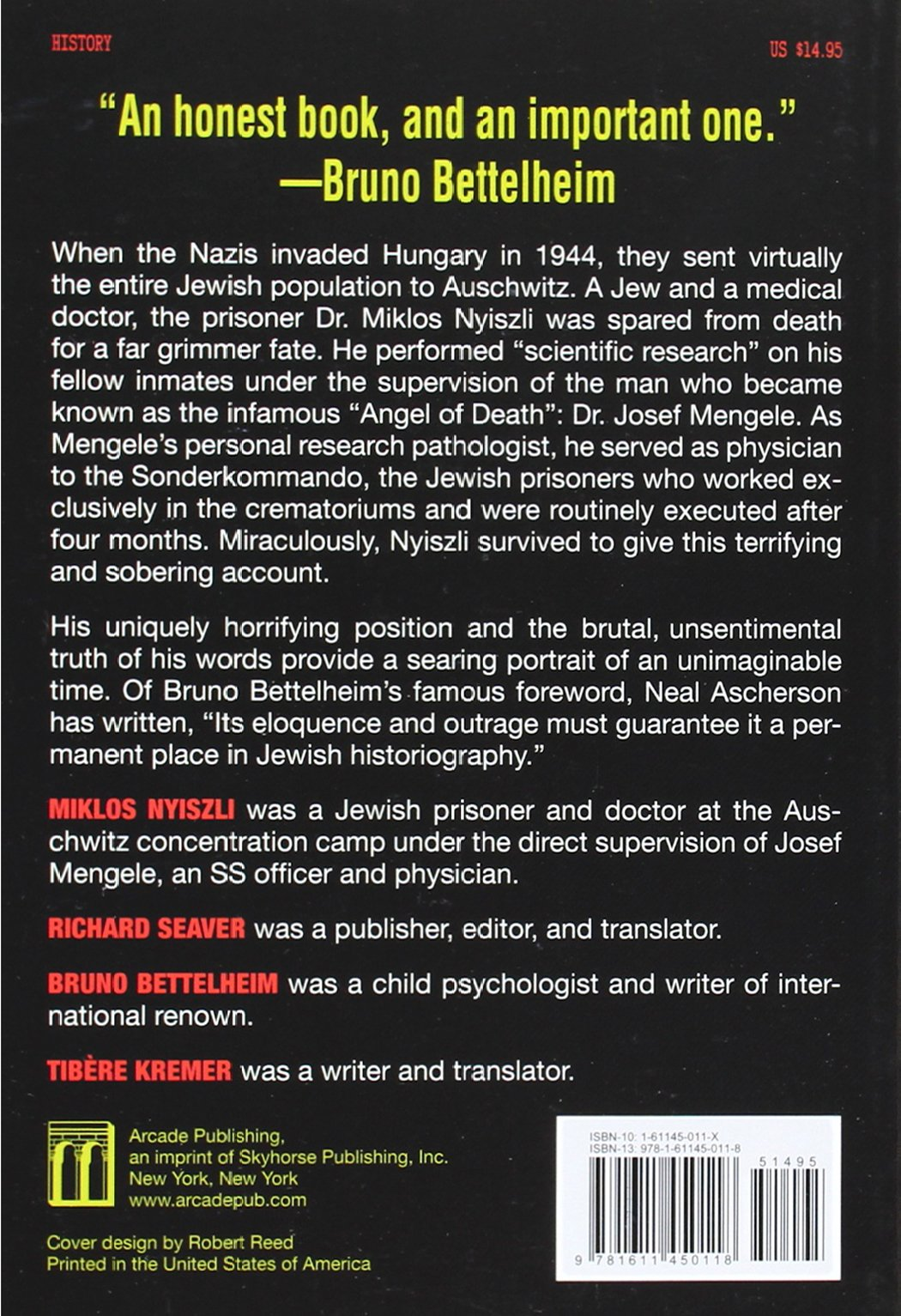 auschwitz a doctor s eyewitness account miklos nyiszli tibere auschwitz a doctor s eyewitness account miklos nyiszli tibere kremer richard seaver bruno bettelheim 9781611450118 com books