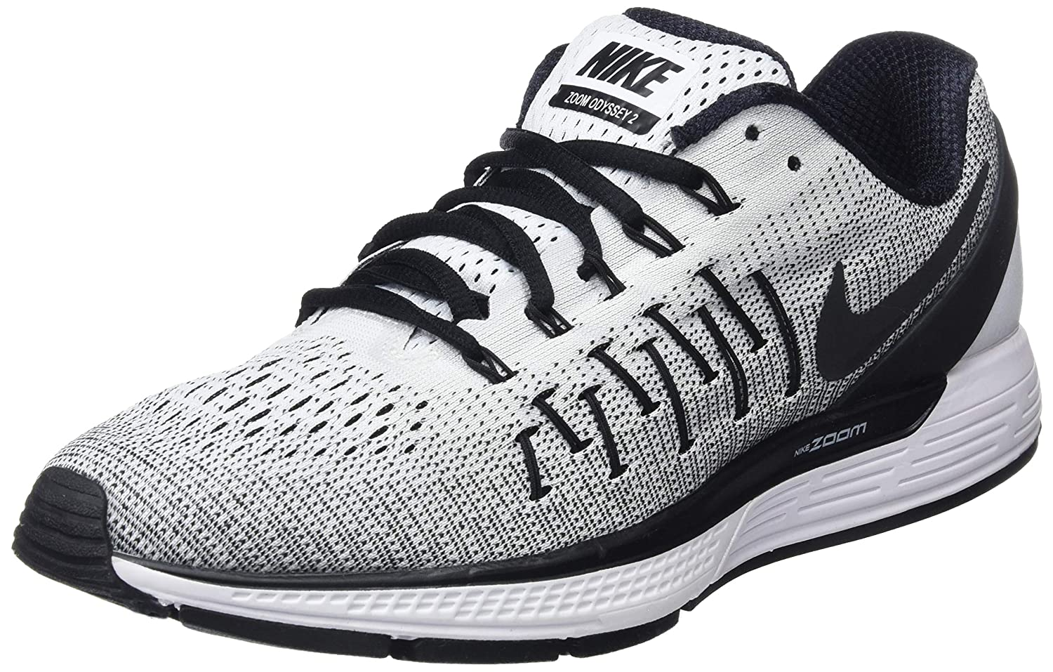 new styles 49aae 352da Nike Mens Air Zoom Odyssey 2 WhiteBlack Running Shoe 12. 5 Men US Buy  Online at Low Prices in India - Amazon.in