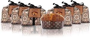 Vergani Three Chocolate Panettone, Hand-Wrapped, Italian Traditional Recipe - 1kg / 2lb 3.2oz - Pack of 6 Panettones