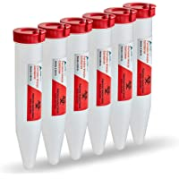 AdirMed 6-Pack Sharps & Needle Biohazard Disposal Container - Shuttle Container with Locking Mechanism