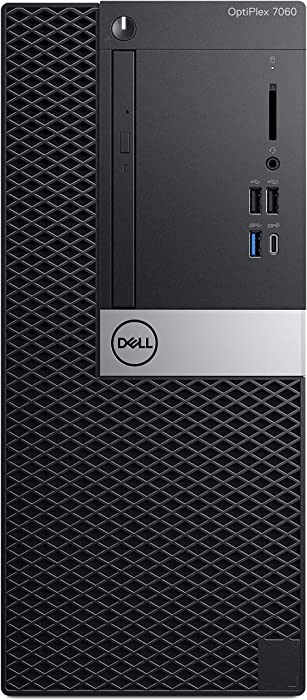 Dell OP7060MTW9M7T OptiPlex 7060 Desktop Computer with Intel Core i7-8700 3.2 GHz Hexa-core, 8GB DRAM, 1TB HDD