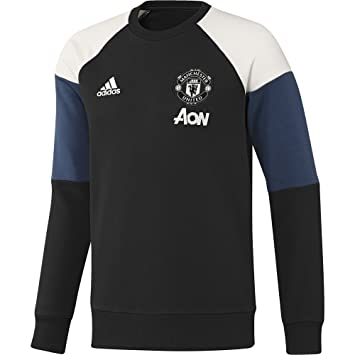 hot sales fe09d 6a2d6 2016-2017 Man Utd Adidas Sweat Top (Black), Jerseys - Amazon ...