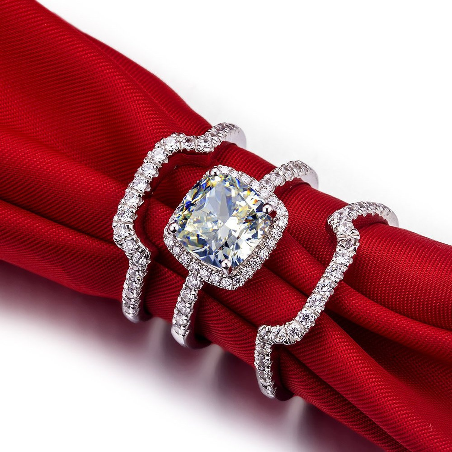 Inspirational Princess Cut Diamond Engagement Ring Hand
