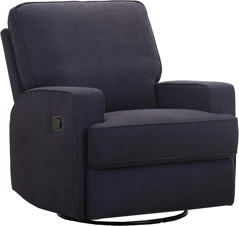 "Amazon Brand – Ravenna Home Contemporary Swivel Glider Recliner Chair, 33.9""W, Black"