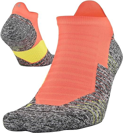 82847b4efb Amazon.com : Under Armour Adult Run Cushion No Show Socks With Tab, 1 Pair  : Clothing