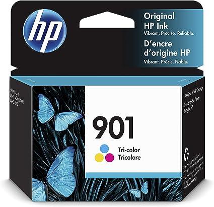 Comprar HP 901 CC656AE, Tricolor, Cartucho de Tinta Original, Compatible con impresoras de inyección de tinta HP Officejet All-in-One 4500, J4580, J4680