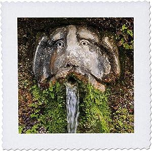 3dRose Italy, Lazio, Tivoli Villa dEste,The Hundred Fountains in the. - Quilt Squares (qs_330220_1)