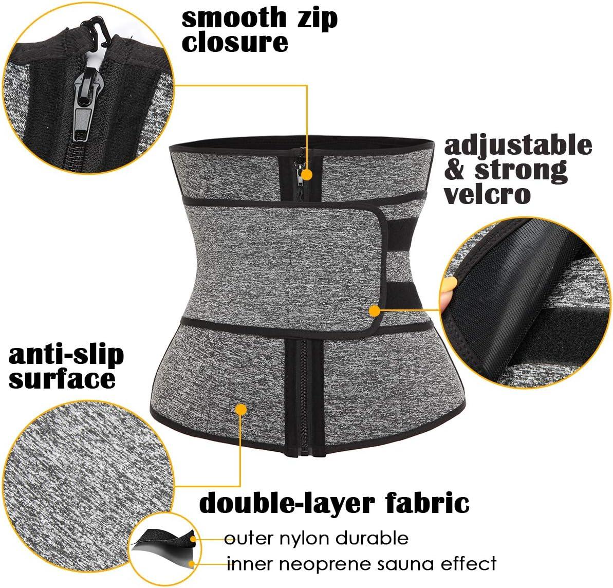 SLIMBELLE Waist Trimmer Neoprene Sauna Belt for Women Weight Loss Sport Shaper Tummy Control Girdle Fitness Corset Sweat Trainer