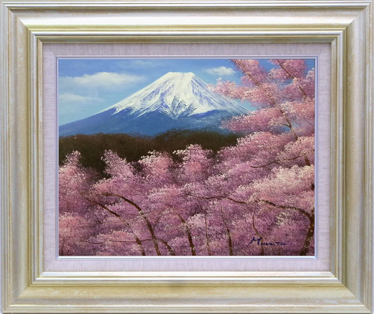 JIG オイルペイントアート 室田 彰 富士山 F10号 IOP-61342