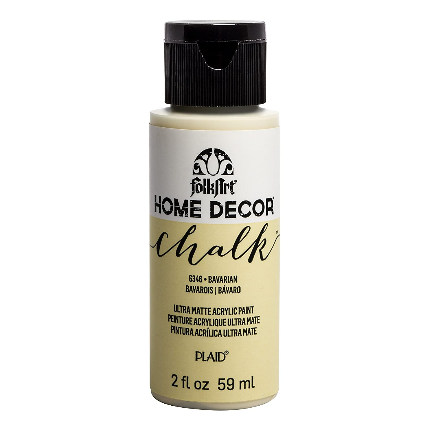 FolkArt 6346 Home Décor Chalk Furniture & Craft Paint in Assorted Colors, 2oz, Bavarian