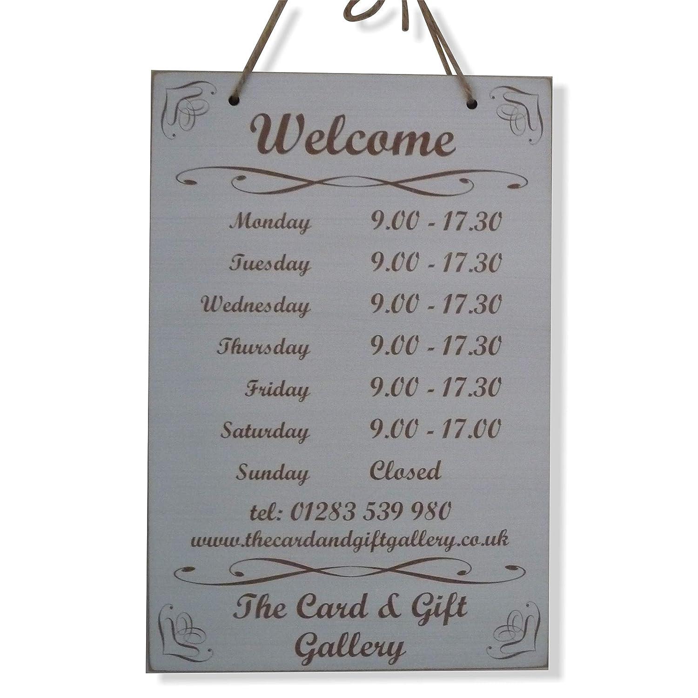 Pizarra con apertura horas de apertura veces tienda abierto ...