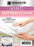 Homestyle King Size Mattress Protector Waterproof and Dust Mite Proof Soft Plastic-Mattress Protector Cover- King Size