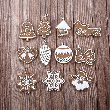 Polymer Clay Christmas Decorations.Amazon Com Aulley 11pcs Polymer Clay Christmas Decorations