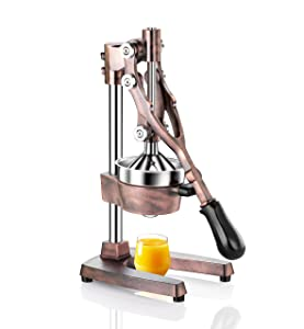 New Star Foodservice 46885 Commercial Citrus Juicer, Antique Bronze Finish