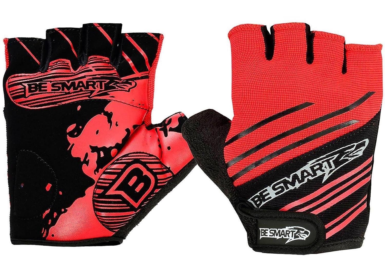 Guanti da donna per ciclismo/MTB a mezze dita con inserti in gel al silicone sul palmo Be Smart Sports
