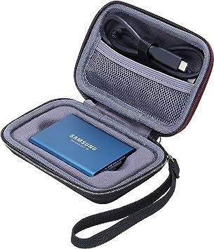 XANAD Estuche rígido de Viaje para Samsung T5 y t3 Disco Estado sólido SSD Externo 250GB 500GB 1TB 2TB: Amazon.es: Electrónica