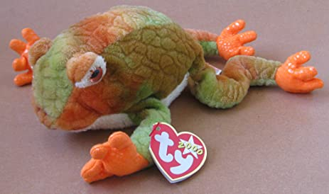 Amazon.com: TY Beanie Babies Prince the Frog Plush Toy Stuffed ...
