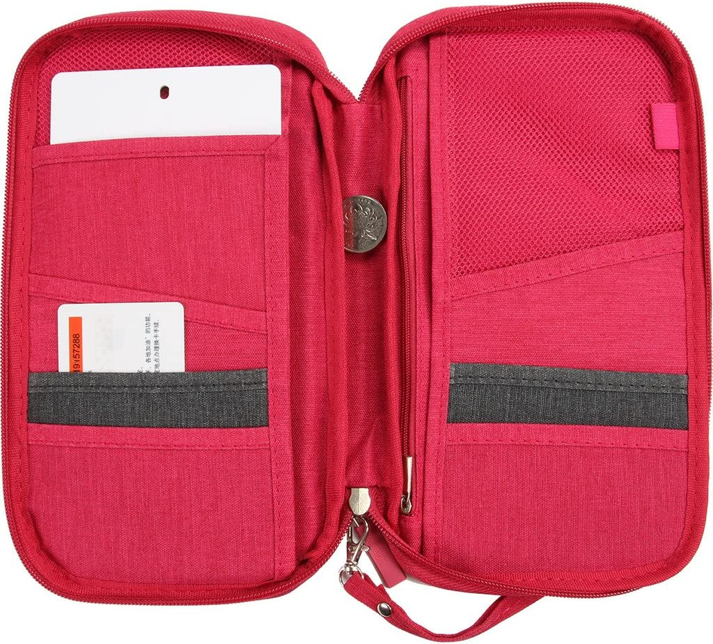 Vanki Multi-function Passport Holder Package Document Passport Wallet Credit card wallet Travel Accessories Holder Case Gray Cover