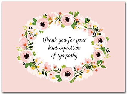 Amazon Com 25x Funeral Thank You Cards With Envelopes Blank