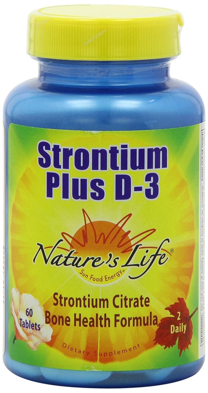 Nature's Life Strontium Plus D-3 400 IU Tablets, 680 Mg, 60 Count