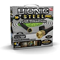 Bionic Steel 50 Foot Heavy Duty Garden Hose with Brass Fittings and On/Off Valve