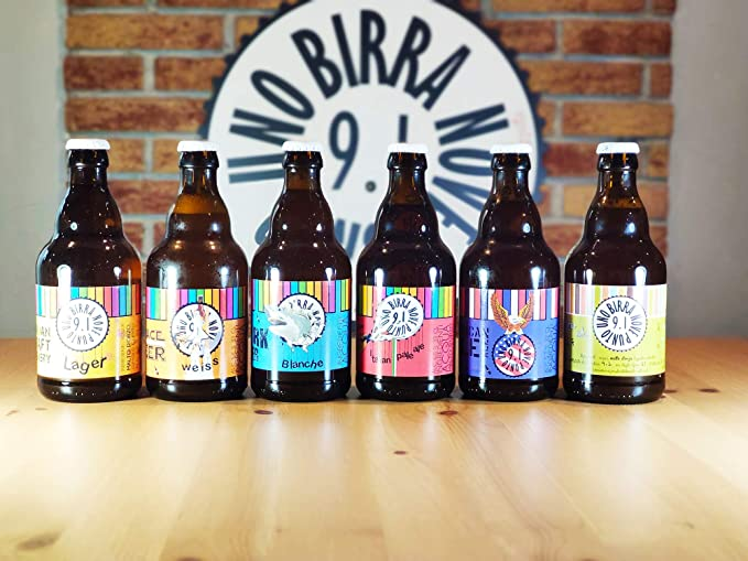 BIRRA 9.1 - Pack Degustación de 12 Cervezas Artesanas italiana ...