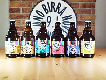 BIRRA 9.1 - Pack Degustación de 12 Cervezas Artesanas italiana - La caja perfecta para catar 6 estilos de cerveza diferentes - 12 bottillas de cervesa da 33 cl - caja regalo: Amazon.es: Alimentación y bebidas