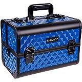 SHANY Premier Fantasy Collection Makeup Artists Cosmetics Train Case - Divine Blue