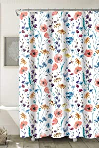"""Home Expressions Durable Waterproof Peva Shower Curtain 70""""x72"""" (Molticolor Floral Design)"""