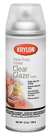Krylon I00500 A00 12 Ounce Triple Thick Clear Glaze Aerosol Spray by Krylon
