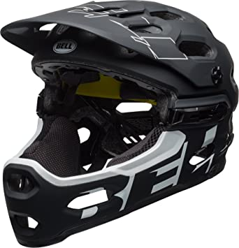 BELL Super 3R MIPS Casco, Unisex, Matte Black/White, Medium