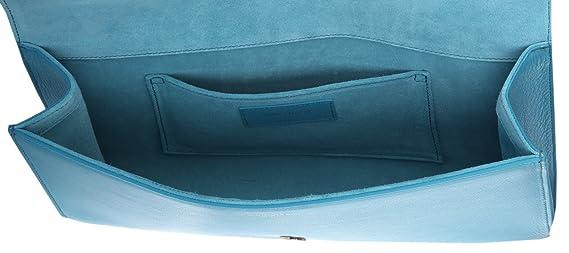 Yves Saint Laurent - Cartera de mano de poliéster para mujer Azul azul claro: Amazon.es: Ropa y accesorios