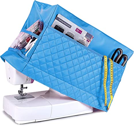 Teamoy Sewing Machine Cover Dust Cover Protector Compatible with Most Standard Singer and Brother Sewing Machines Purple