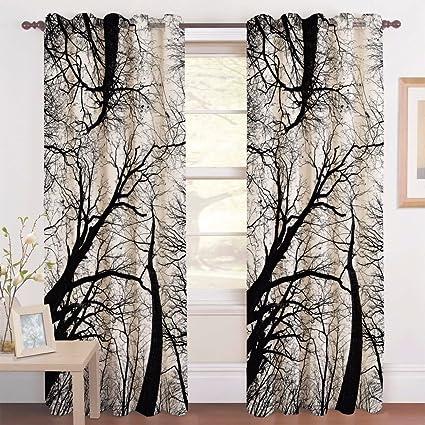 La Elite Polyester Blend Digital Curtains Printed Door
