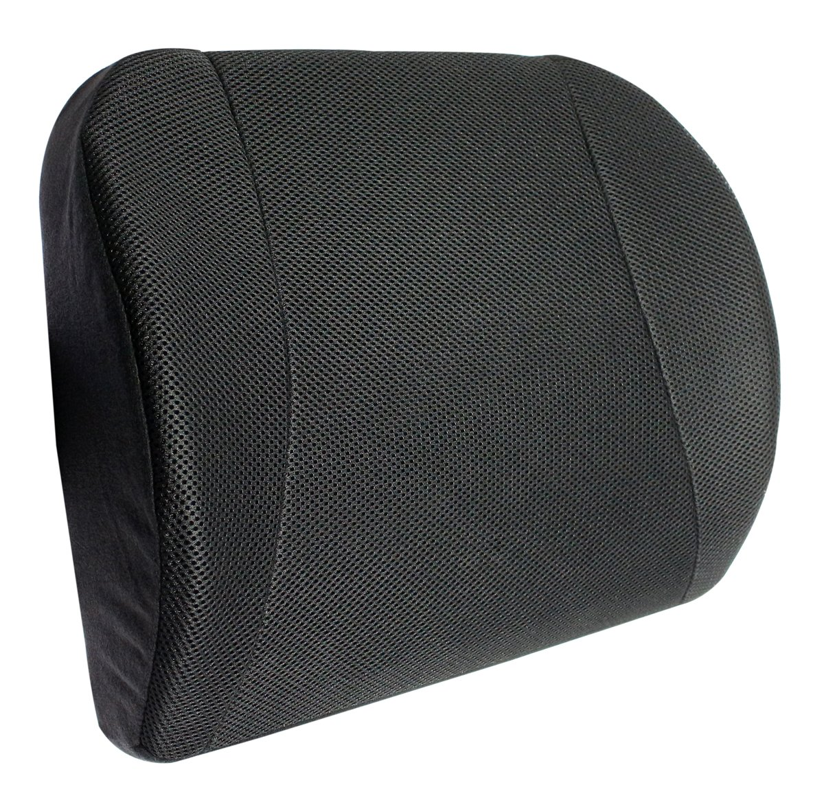 Bamboo Charcoal Memory Waist Cushion Back Lumbar Support- Black