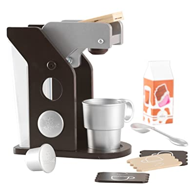 KidKraft Children's Espresso Coffee Set - Role Play Toys for The Kitchen, Play Kitchen Accessories: Toys & Games