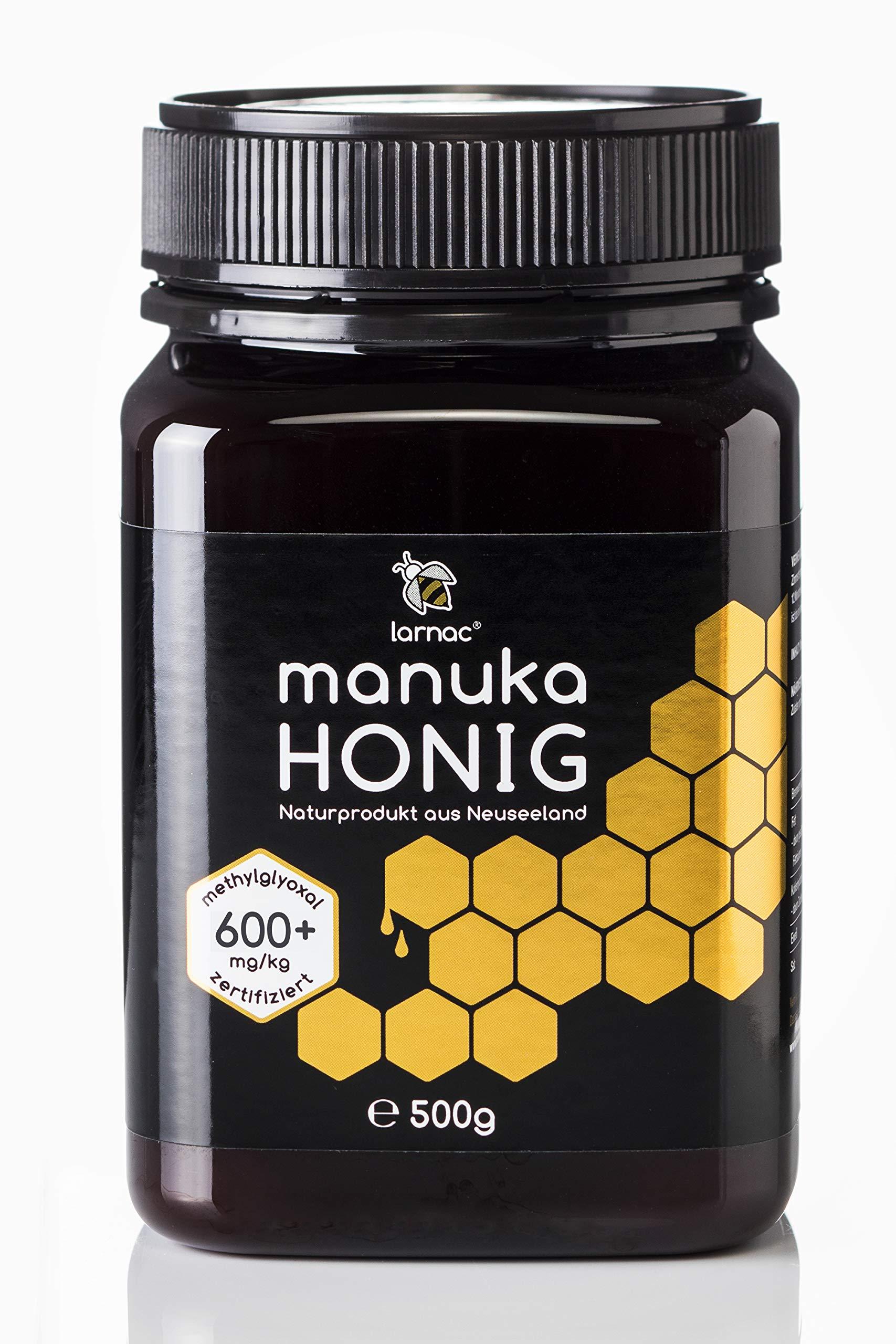 Larnac Manuka Honig 600+ MGO aus Neuseeland, 500g, zertifizierter Methylglyoxalgehalt Bild