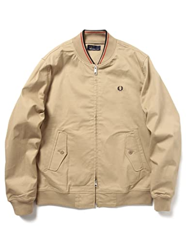 Tipped Bomber Jacket 11-18-3168-060: Beige