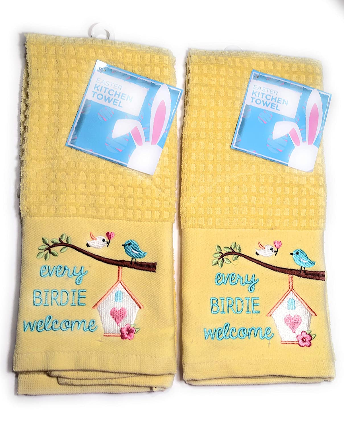 Easter Kitchen Towel Set of 2 Every Birdie Welcome