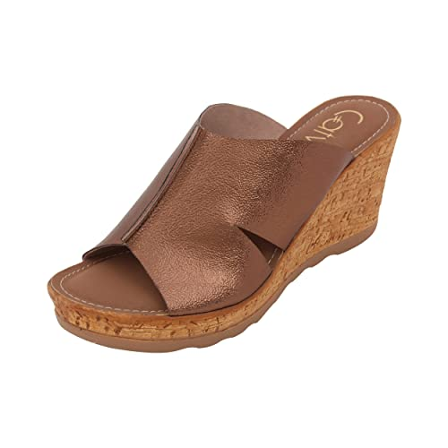 94e6272cc Catwalk Bronze Wedges Slip-On Sandals  Buy Online at Low Prices in India -  Amazon.in